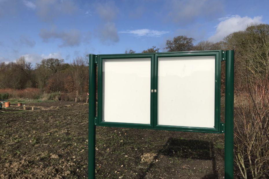 The new Trumpington Meadows allotment site.
